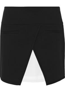 Tibi Wrap-effect stretch-twill mini skirt