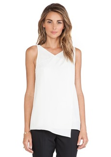 Tibi Wrap Tank in Ivory