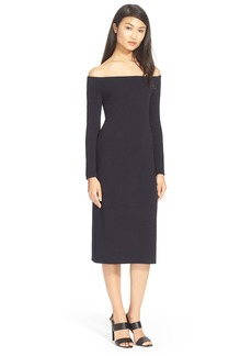 Tibi Off the Shoulder Crepe Dress