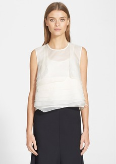 Tibi Tiered Silk Organza Top