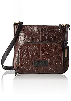 Tignanello Classic Beauty Convertible Embossed Cross Body Bag