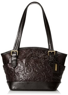 Tignanello Classic Beauty Dome Shopper Embossed Shoulder Bag