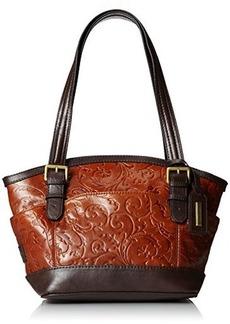 Tignanello Classic Beauty Dome Shopper Embossed Shoulder Bag