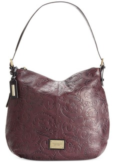Tignanello Classic Beauty Embossed Vintage Leather Hobo