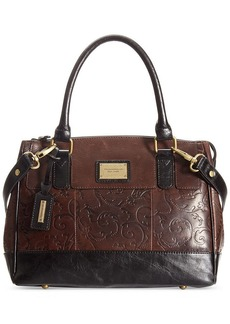 Tignanello Classic Beauty Leather Status Satchel