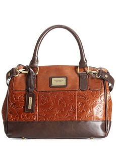 Tignanello Classic Beauty Embossed Vintage Leather Status Satchel