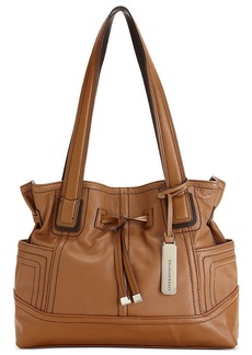 Tignanello Handbag, Leather Drawstring Shopper
