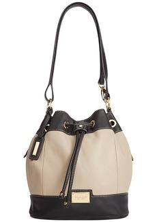 Tignanello Social Status Leather Convertible Drawstring Bag