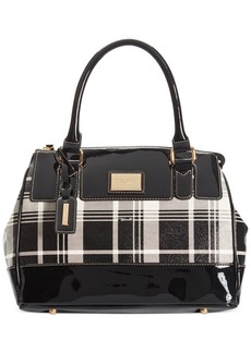 Tignanello Social Status Plaid Satchel