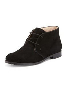 Tod's Flat Desert Ankle Bootie, Black