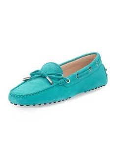 Tod's Heaven Leather Laccetto Driver, Turquoise