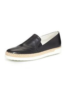 Leather Slip-On Sneaker, Black   Leather Slip-On Sneaker, Black