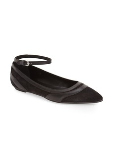 Tod's Ankle Strap Pointy Toe Flat (Women)