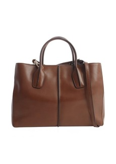Tod's bark leather 'D-Styling' shopper tote