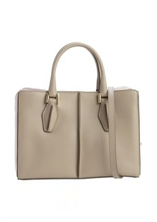 Tod's beige and lavender leather convertible mini tote bag