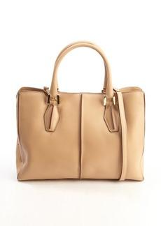 Tod's beige leather 'D-Cube Medium Shopping' bag
