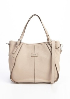 Tod's beige leather 'New G' small tote