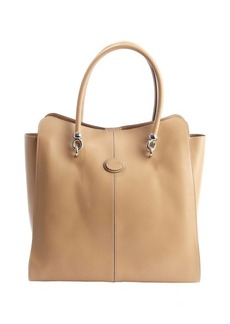 Tod's beige leather 'Sellas' medium shopping bag