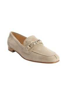 Tod's beige suede rolo chain loafers