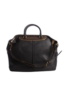 Tod's black and brown leather convertable bag