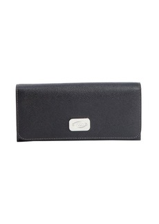 Tod's black leather continental wallet