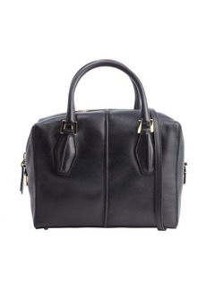 Tod's black leather convertible bag