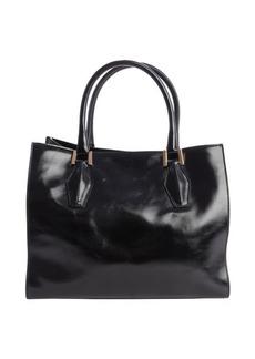 Tod's black leather 'D-Cube' shopper tote