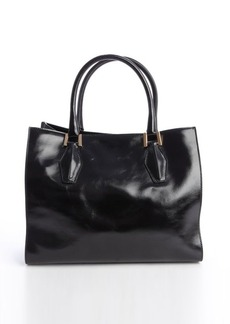 Tod's black leather 'D-Cube' shopper tote