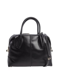 Tod's black leather 'D-Styling' convertible tote bag