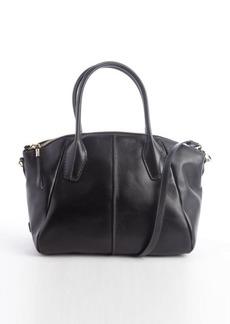 Tod's black leather 'D.D.' medium convertible bag