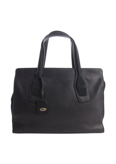 Tod's black leather 'East-West Manici Media' tote
