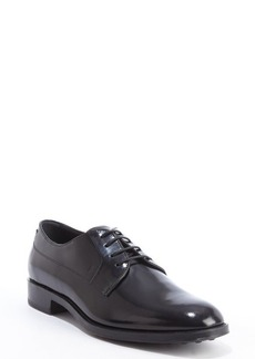 Tod's black leather lace up oxfords