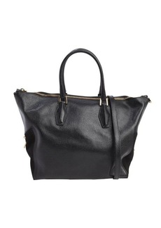Tod's black leather large convertible tote bag