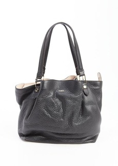 Tod's black leather large tote