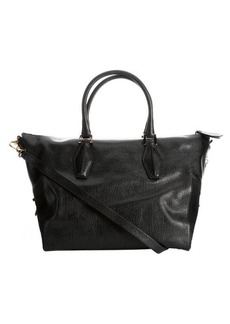Tod's black leather medium convertible tote bag