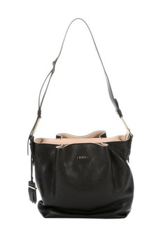 Tod's black leather pocket detail shoulder bag