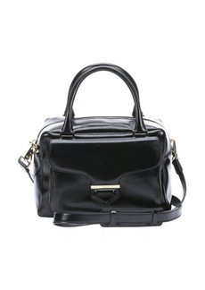 Tod's black leather small 'AAE' front pocket duffle bag