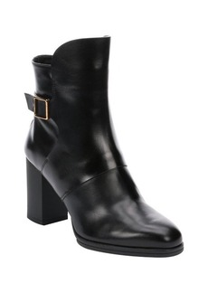 Tod's black leather 'T85 Up Troncetto' ankle booties