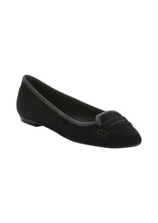 Tod's black suede moc toe penny loafers