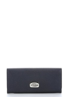 Tod's blue leather continental wallet