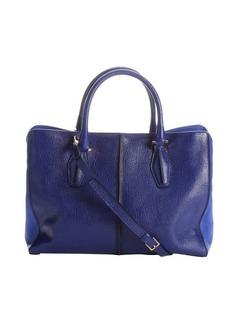 Tod's blue leather convertible tote bag
