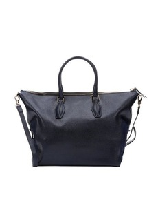 Tod's blue leather large convertible tote bag