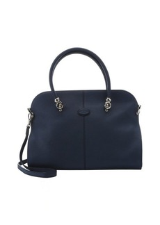 Tod's blue leather top handle tote