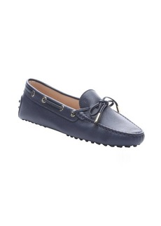 Tod's blue pebbled leather driving loafers