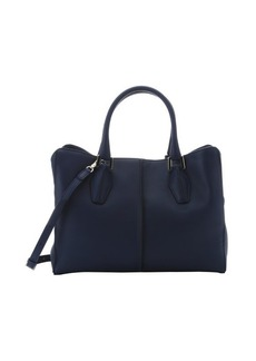 Tod's bluette leather 'D-Cube' medium shopping tote