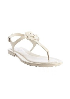 Tod's bone leather anklestrap sandals