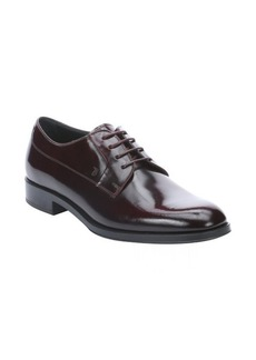 Tod's bordeaux leather lace up oxfords