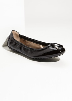 Tod's Bow Trim Patent Leather Flat