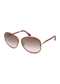 Tod's Braided Round Metal Sunglasses
