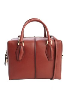 Tod's brick red leather convertible bag